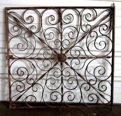 Beautiful old piece of iron.  Reuse as table top, in the garden or just decorative piece on a wall.