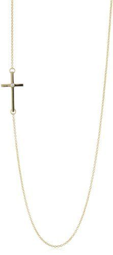 We have it in sterling! $30! Side Cross Necklaces, Cross Jewelry, Arrow Necklace, Gold Necklace, Pendant Necklace, Jewelry Boards, Jewelry Necklaces, Jewellery, Jewelry Stores