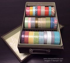 Tips for Washi Tape Storage, Stampin' Up!, Brian King