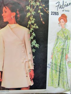 Fabiani Dress Pattern, Vintage Vogue 2265 Sewing Pattern, 1970s Dress Pattern, Vogue Couturier Design, Bust 56, Mod Dress, Vintage Sewing by sewbettyanddot on Etsy