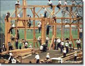 Barn Raising in Amish  Country