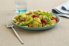 All-time Classic Caesar Salad with Romaine Lettuce, Homemade Croutons, Parmesan Cheese, Avocado-Based Caesar Dressing  -=- Excellent Source of Vitamin A >> Good Source of Vitamin C and Iron !! Hail <3