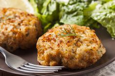 Delicious baked tuna cakes. Serve as an appetizer with tartar sauce, or serve as a larger patty as a sandwich.