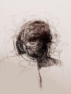 The Elephant man, bic su carta, 2017