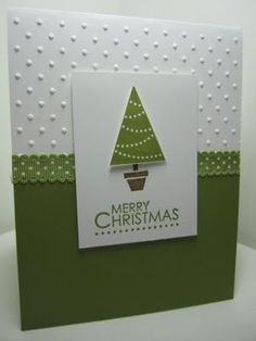 Goin' Over The Edge: Quick and easy Christmas card with Pennant Parade - christmas dekoration Homemade Christmas Cards, Christmas Cards To Make, Noel Christmas, Xmas Cards, Homemade Cards, Handmade Christmas, Holiday Cards, Christmas Crafts, Christmas Abbott