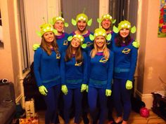 Disney pixar fancy dress group team costumes toy story aliens the claw DIY homemade outfits