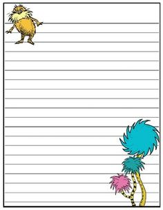 Dr. Seuss writing papers (FREE) @Jerri Graham