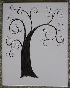 Wedding Thumbprint Trees - Alternative Guest Book. $45.00, via Etsy.