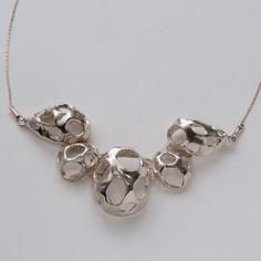 Bio Necklace No. 2, Sterling Silver Necklace, silver pendant. $200.00, via Etsy.