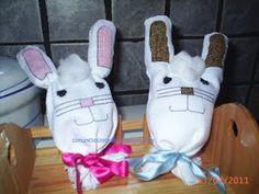 Easter handmade deco / Coniglietti porta ovetti Pasquali fai da te- tutorial
