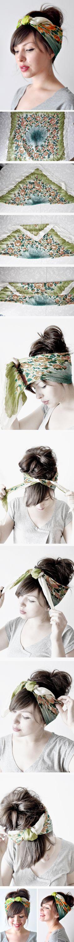 Head scarf.. SO cute <3