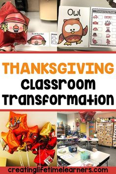 Check out this fun Thanksgiving classroom transformation theme for elementary students in first, second, third, fourth, fifth grade. This Thanksgiving day room transformation will set the stage to engage and is stress-free! It's a worksheet or escape room alternative, and can be used in small groups or partners. 1st, 2nd, 3rd, 4th, 5th graders enjoy classroom transformation ideas. Digital and printables for kids (Year 1,2,3,4,5) #setthestagetoengage #classroomtransformation #mathactivities