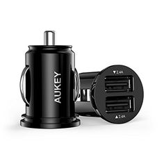 awesome Aukey CC-S1 4.8A Dual USB Car Charger for Smartphones - Black