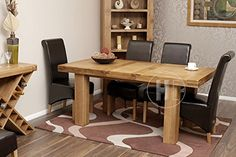 Solid-Oak-Extending-Dining-Table-and-6-Black-Faux-Leather-Roll-Back-Chairs-Danube-Dining-Furniture-HFL-OSET006-0