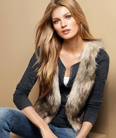 Hotsale!! Fashion Women Faux Fur Waistcoat Short Vest Jacket Coat Sleeveless Outwear