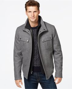 b94306622d96 MICHAEL Michael Kors Brockton Wool-Blend Jacket Mens Clothing Styles