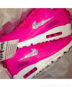 size 40 adfb2 88c6c Crystal Nike air max 90 barbie pink candy trainers will satisfy your love  for pink, women in all age can wear it.