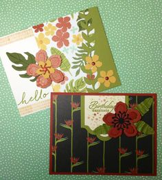 Gorgeous cards created with Stampin' Up!'s Botanical Blooms stamp set, Botanical Builder framelits dies, and Botanical Gardens designer series paper, by Linda Madison.