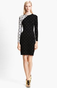 Eye Print Stretch Knit Dress - Lyst