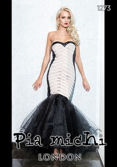 4bce3f5ecbdb A fabulous black and white prom dress from Pia Michi Black And White Prom  Dresses,