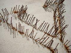 Y - detail - pins on felt by Sharon Pazner, via Flickr