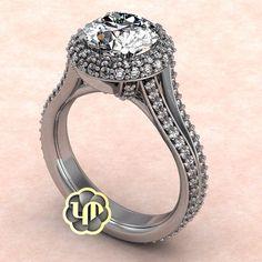 #nofilter #engagementring #diamonds #halo #round #brilliance #custommade #love #marriage #sayyes #idos #luxury #fancy #elegant #classy #jewelry #perfection