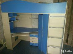 Кровать двухъярусная со столом— фотография №1