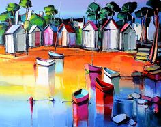 Eric Le Pape, Coastal Art, Les Oeuvres, Artsy, Painting, Watercolor, Abstract, Provence, Beach