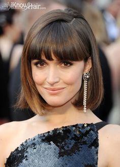 Hottest haircuts with bangs here