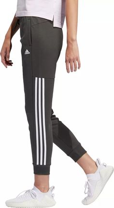 adidas Womens Post Game Solid 3 Stripe Jogger Pants Adidas Pants, Jogger Pants, Joggers, Sweatpants, Adidas Tracksuit Women, Adidas Women, Adidas Country, Striped Tights, Golf Pants
