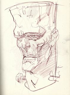 Frankenstein's Monster by Bill Sienkiewicz *