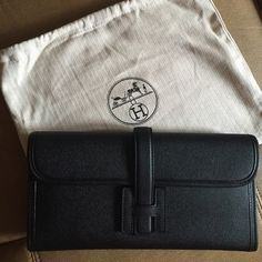 f78859c77b18 Hermes Jige Elan 29 clutch Black Epsom leather. Only used a few times but  still