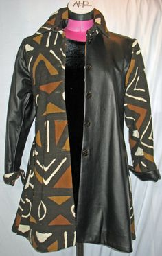 African Mudcloth Coat  Women's by designAnnAtelier on Etsy, Way too pricey!