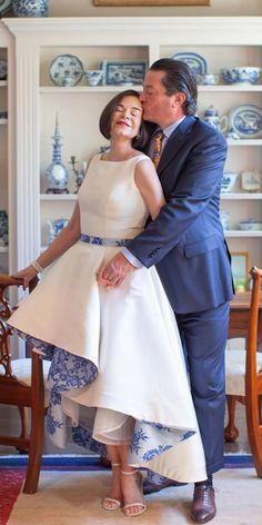 Trend Of The Year: 24 High Low Wedding Dresses ❤  high low wedding dresses simple with blue floral sarehnouri #weddingforward #wedding #bride Bridesmaid Dresses, Wedding Dresses, Short Dresses, Floral, Blue, Collection, Fashion, Bridesmade Dresses, Bride Dresses