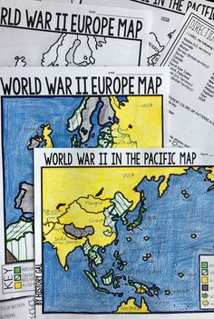 World War I Map Activity (1914 and 1918 Europe Maps) | History Gal ...