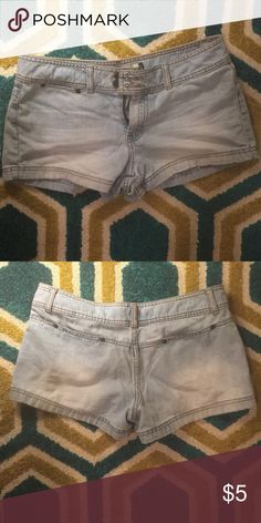 American eagle light denim shorts Well loved. Super comfy, soft from wear. American Eagle Outfitters Shorts Jean Shorts