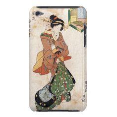 Cool japanese vintage ukiyo-e geisha lady scroll barely there iPod cover $44.95