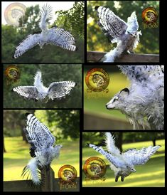 SOLD HANDMADE Poseable Winged Fantail Moon Wolf! by Wood-Splitter-Lee on DeviantArt