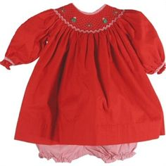 Girls Red Christmas Dress (Petit Ami)-Girls; Seasonal; Children; Gifts www,annieks.com
