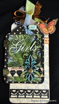 Beautiful tag by Jane Tregenza! Made with our Olde Curiosity Shoppe Collection #graphic45 #tags