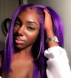 Purple Wig Ash Brown Hair Dye Over Red Hair Black Hair Color – Shebelt mall Purple Wig, Hair Color Purple, Hair Color For Black Hair, Purple Lace, Purple Hair Black Girl, Dark Purple, Lace Front Wigs, Lace Wigs, Blue Lace Front Wig