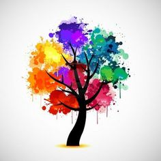 the tree of life - full of color, full of joy