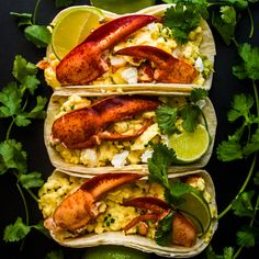 Lobster Breakfast Tacos - Perfect for brunch! Mhmm <3