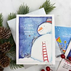 C3_AnitaJeram_IG3 Holiday Cards, Christmas Cards, Anita Jeram, Snowman Cards, Daddys Little, New Year Card, Pretty Cards, Holiday Tree, Easter Crafts