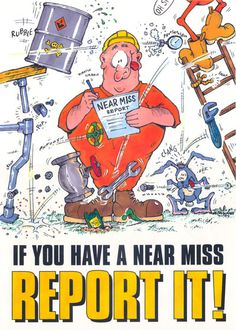 Cartoon character for health and safety campaign