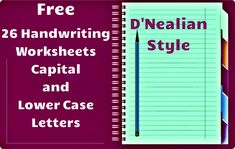Free Handwriting Worksheets! Includes worksheets for all capital as well as lower case letters with directions to form the letters, space for tracing, and independent practice. These worksheets are in D'Nealian style.