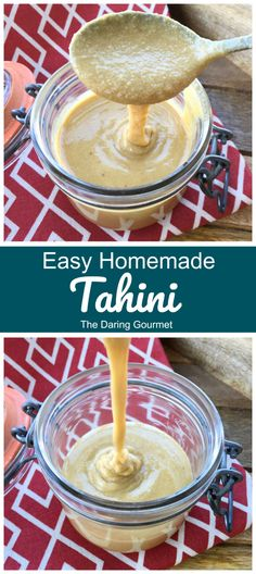 This easy homemade tahini recipe takes just two ingredients, is less expensive than store-bought, and tastes WAY better! A Food, Good Food, Yummy Food, Delicious Meals, Veggie Food, Low Carb Recipes, Cooking Recipes, Vegetarian Recipes, Diabetic Recipes