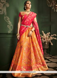 Vivacious Weaving Work Banarasi Silk Lehenga Choli