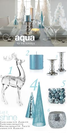 I kinda want to go aqua for christmas! or maybe gold red and  green? or creams and gold?