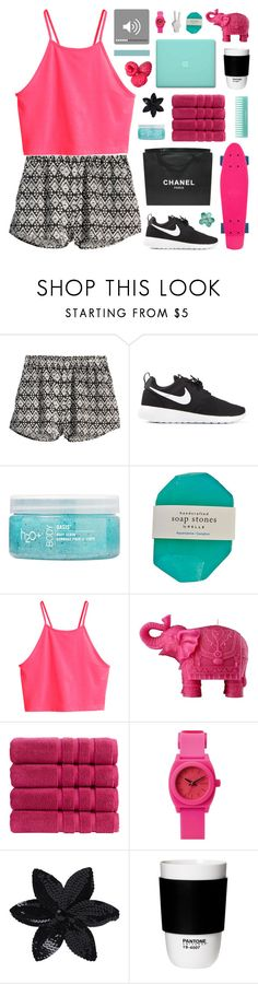 """""""~ O9O515"""" by khieug ❤ liked on Polyvore featuring H&M, NIKE, H2O+, Mario Luca Giusti, Christy, Nixon, Chanel, ASOS, ROOM COPENHAGEN and nOir"""